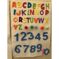 Numbers and letter sounds