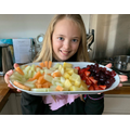 Isla created a delicious fruit platter!