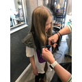 """Neve donated 16"""" of hair to The Little Princess Trust who make wigs for children."""