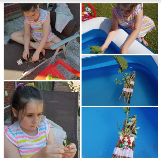 Mia's boat building collage
