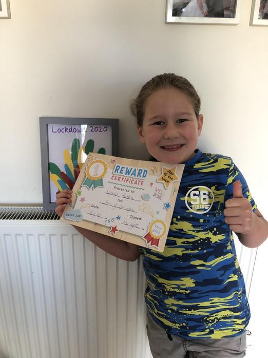 Nahla has a fantastic certificate :)