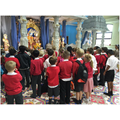 Bishop Ellis children at the Mandir.