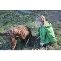 Ned helping collect sticks at Forest School