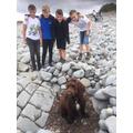 Ned at Kilve Beach.