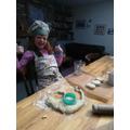 Making yummy scones!