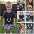 Jame's incredible Stone Age man and necklace!