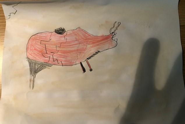 Zach's excellent bison cave painting!