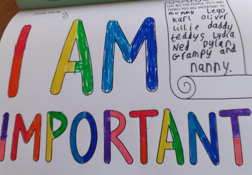 Chloe's wonderful mindfulness work! You are important!