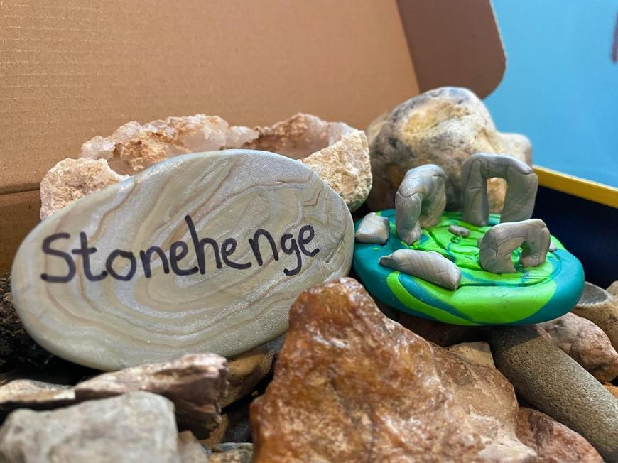 Lily's wonderful Stonehenge made out of Fimo!
