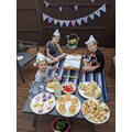 James and his brothers enjoying their VE Day tea!