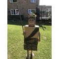 Oscar's fabulous Stone Age person!