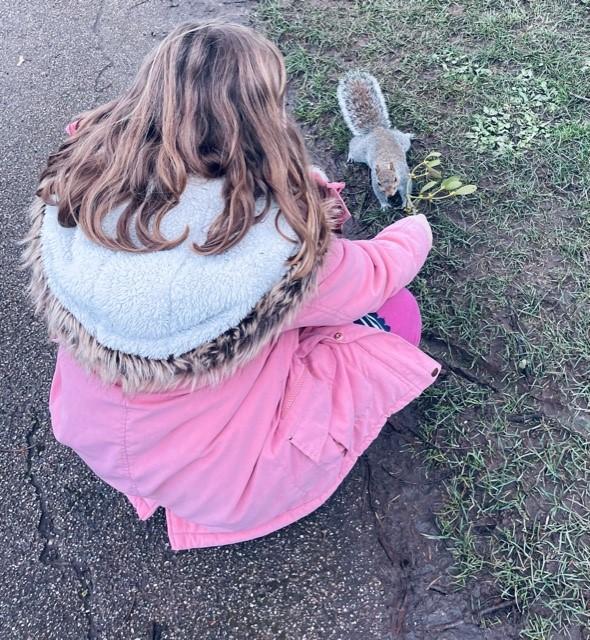 Creating her own wonderful forest school!
