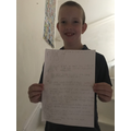 Junior and his incredible home learning!
