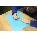 We drew around our hand and came up with different rules which would help us in class.