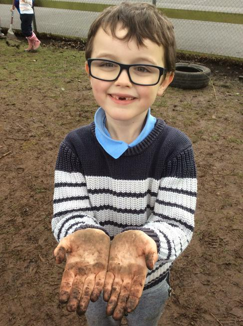 Is Forest School about getting your hands dirty?