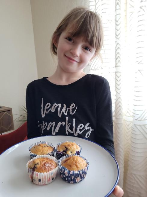 Yummy home-made blueberry cupcakes!