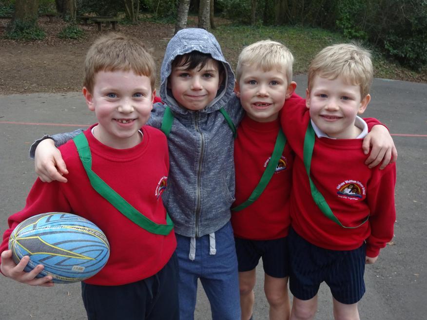 The winning team George, Harry, Harvey and Alfie.