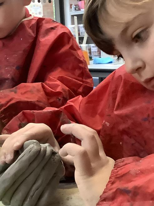 Clay coil pot