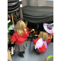 Children acted out the story of The Room on the Broom