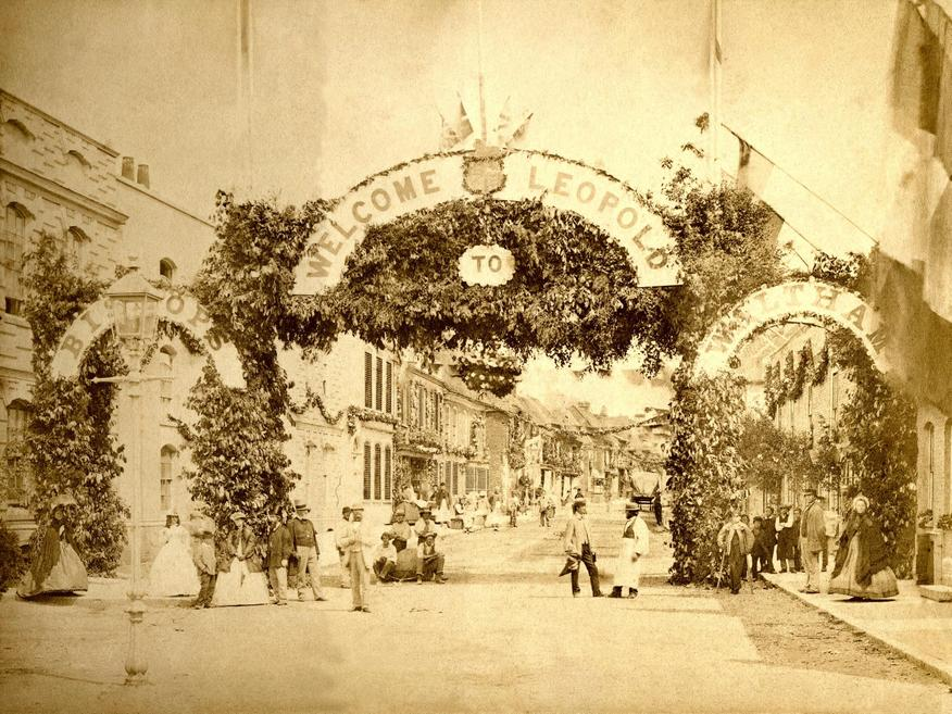 The High Street decorated for Prince Leopold's visit