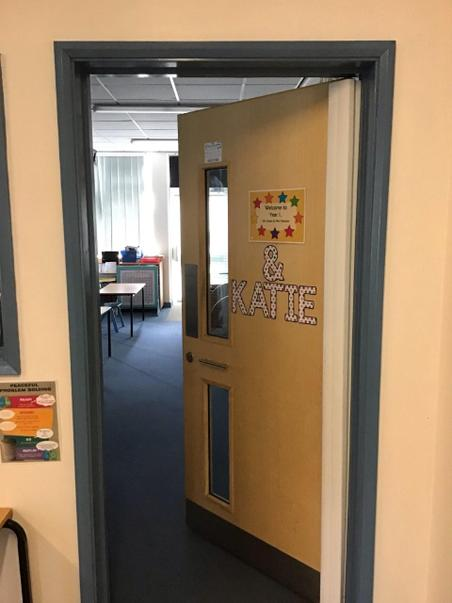 This is the door to our classroom