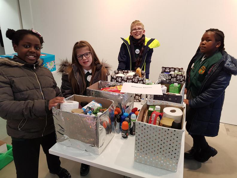 As a school, we collected toiletries for the welcome boxes
