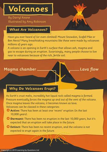 Non-narrative Texts on Volcanos