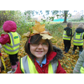 Leaf crowns on our welly walk
