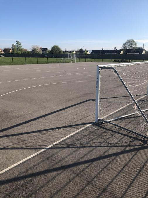 'The cage' for ball games and some PE lessons