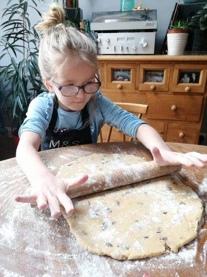 ...rolling the dough......