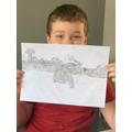 Cameron's fantastic elephant sketch