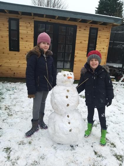 Snow fun with Harry and Millie!