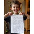 Ben's meerkat story - super proud face!