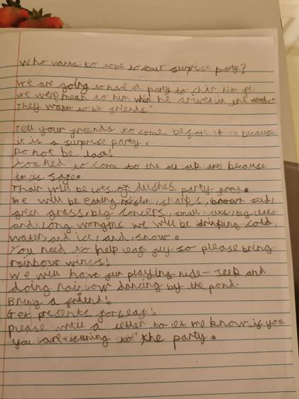 Ben's fabulous instruction writing.