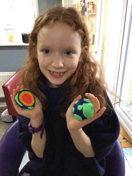 Niamh's layers of the Earth creation