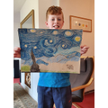 Incredible work from Archie on his Starry Night