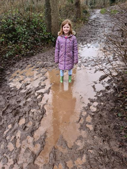 Muddy half term walks!