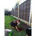 Millie planting a tree - how wonderful!