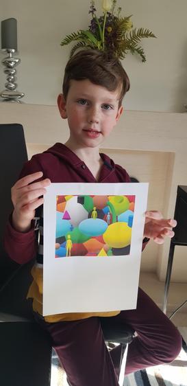 Leo's beautiful enquiry artwork!