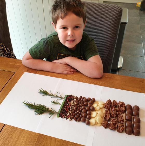 Dylan's edible soil display