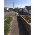Callum enjoying his bike ride in the sun