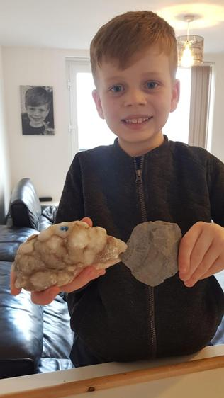Ethan being a rock detective