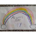 Lauren's beautiful rainbow art work!