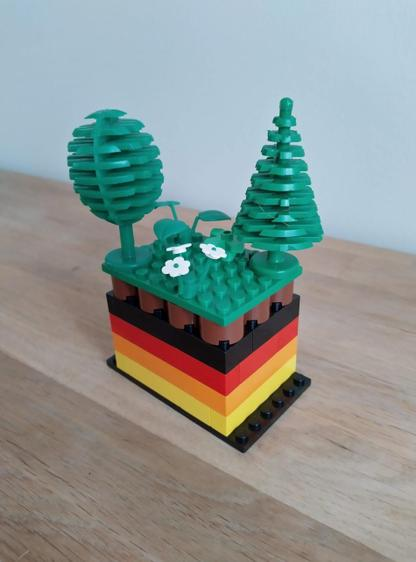 Tom's Lego layers of the Earth