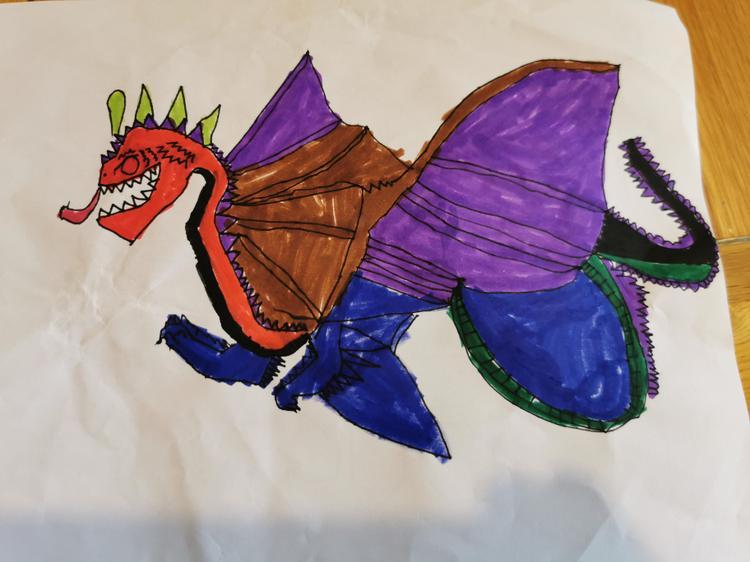 Magical dragon drawn by Ben.