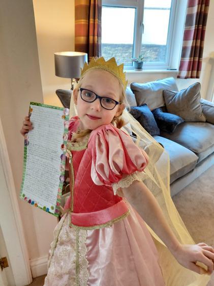 Amali expressing herself in her beautiful princess dress!
