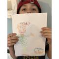 Leo's pointillism artwork