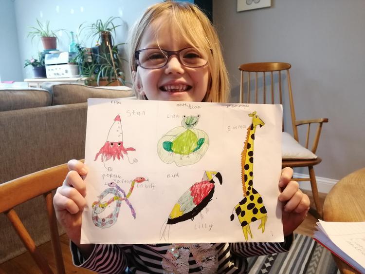 Beautiful animal classification drawings by Martha.