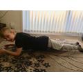 Callum completing Mr Botten's workout