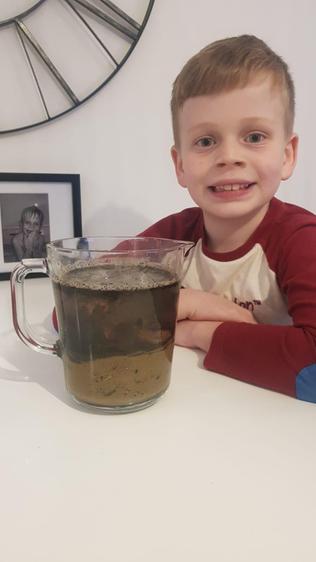 Ethan's sediment jar
